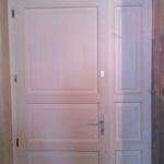 fehér kétszárnyú borovi ajtó